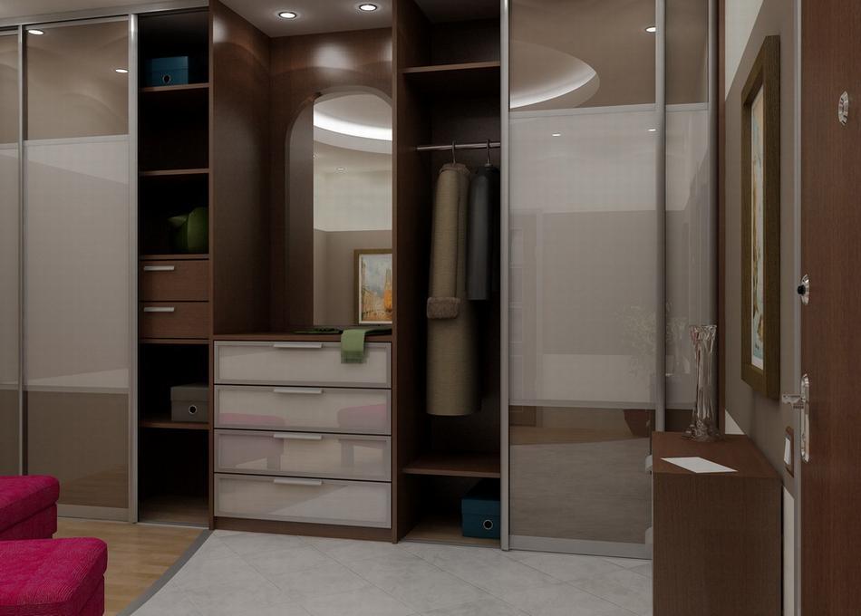 Дизайн шкафа-купе в прихожую